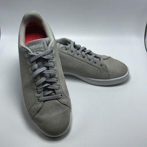 Adidas CloudFoam Sneaker Gray Suede Men Size 9.5
